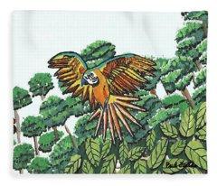 Amazon Bird Fleece Blanket