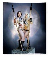 Amazon With Spears Fleece Blanket