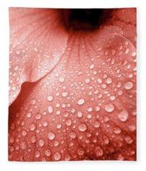 Amber Droplets Fleece Blanket