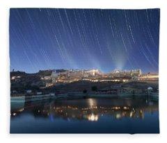 Amber Fort After Sunset Fleece Blanket