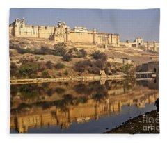 Amber Fort Fleece Blanket