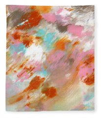 Ambrosia- Abstract Art By Linda Woods Fleece Blanket