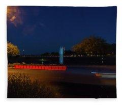 America At Night Fleece Blanket