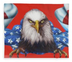 America Patriot  Fleece Blanket