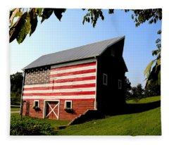 Americana 1 Desoto Kansas Fleece Blanket