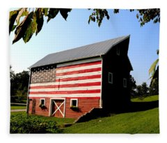 Americana 1 Desoto Kansas Fleece Blanket