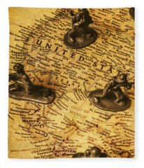 American Army  Fleece Blanket