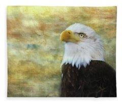 American Bald Eagle At Sunrise Fleece Blanket