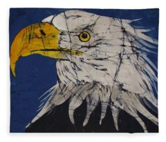 American Bald Eagle Fine Art Batik Fleece Blanket