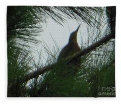American Bitten Bird Fleece Blanket