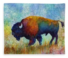 American Buffalo 5 Fleece Blanket