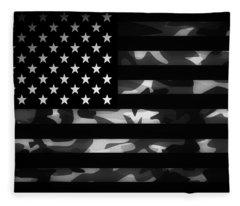 American Camouflage Fleece Blanket
