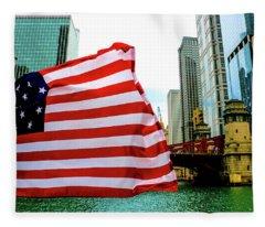 American Chi Fleece Blanket
