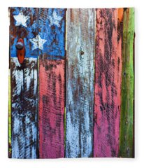 American Flag Gate Fleece Blanket