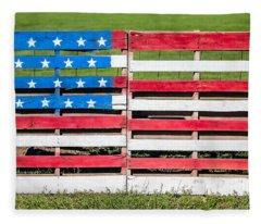 American Folk Art Fleece Blanket