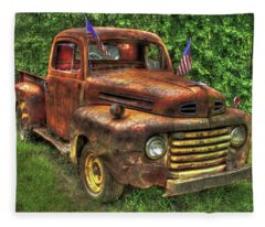 American Ford 1950 F-1 Ford Pickup Truck Art Fleece Blanket