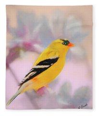 American Goldfinch. Fleece Blanket
