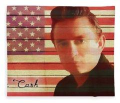 American Icon Johnny Cash Fleece Blanket