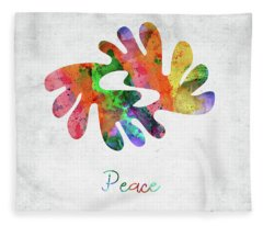 American Indian Symbol - Peace Fleece Blanket