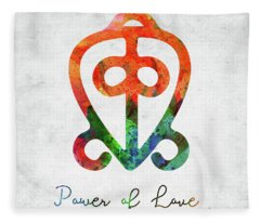 American Indian Symbol - Power Of Love Fleece Blanket