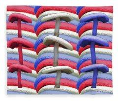 American Mushrooms Fleece Blanket