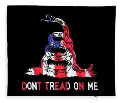 American Pride Don't Tread On Me Horizontal Fleece Blanket