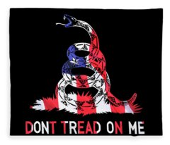 American Pride Don't Tread On Me Square Fleece Blanket