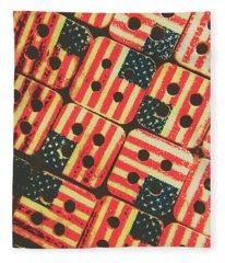 American Quilting Background Fleece Blanket