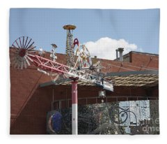 American Visionary Art Museum In Baltimore Fleece Blanket