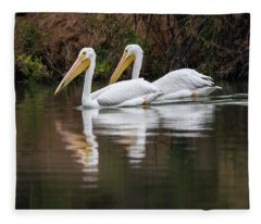 American White Pelican 5836-113017-1cr Fleece Blanket