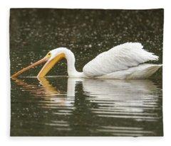 American White Pelican 6421-113017-1 Fleece Blanket