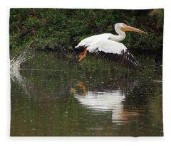 American White Pelican 6486-113017-3cr Fleece Blanket