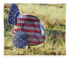 American Wild Turkey Fleece Blanket