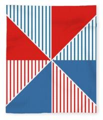 Americana Pinwheel Fleece Blanket