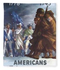 Americans Will Always Fight For Liberty Fleece Blanket