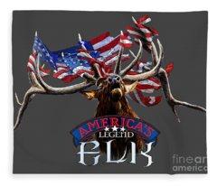 America's Legend Elk Fleece Blanket