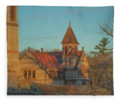 Ames Free Library At Solstice Fleece Blanket