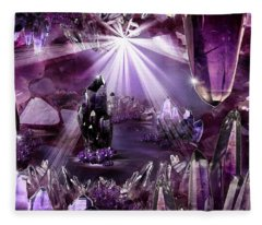 Amethyst Dreams Fleece Blanket
