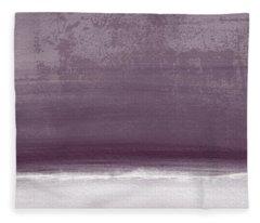 Amethyst Shoreline- Abstract Art By Linda Woods Fleece Blanket