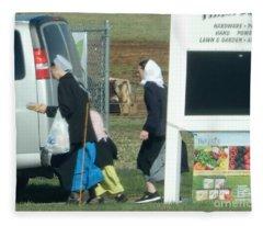 Amish Auction Fleece Blanket
