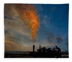 Amish Fireworks Fleece Blanket