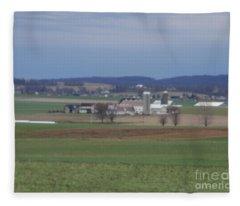 Amish Homestead 3 Fleece Blanket