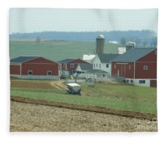 Amish Homestead 6 Fleece Blanket