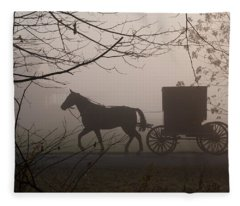 Amish Morning 1 Fleece Blanket