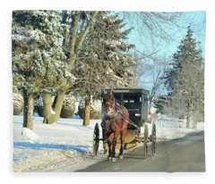 Amish Winter Fleece Blanket