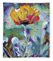 Among The Poppies II Fleece Blanket