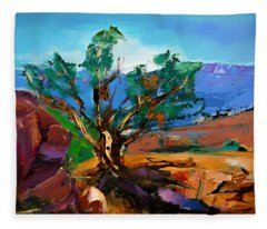 Among The Red Rocks - Sedona Fleece Blanket