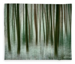 Among The Trees II Fleece Blanket