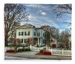 Amos Tuck House In Late Autumn Fleece Blanket