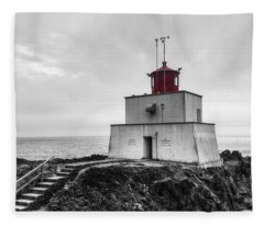 Amphitrite Point Lighthouse Fleece Blanket